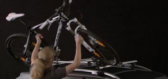 cykel på taket